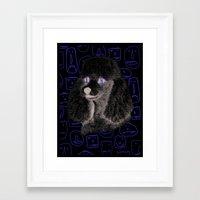 Poodle Print Framed Art Print