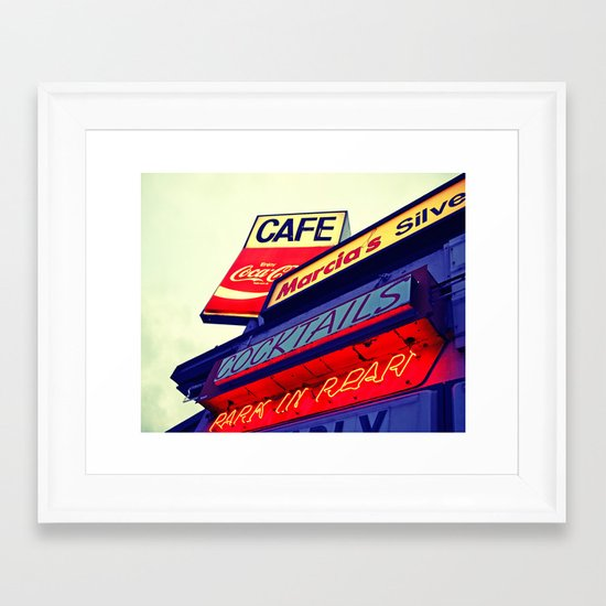 Park in rear Framed Art Print