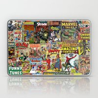 Comic Book Cover Collage Laptop & iPad Skin