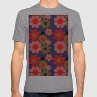 Groovy baby floral Mens Fitted Tee Athletic Grey SMALL