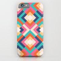 iPhone & iPod Case featuring Colorful Geometric by Matt Borchert