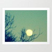 Tree Holding The Moon Art Print