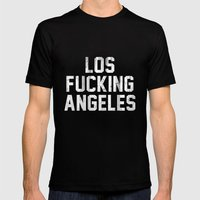 Los Fucking Angeles Mens Fitted Tee Black SMALL