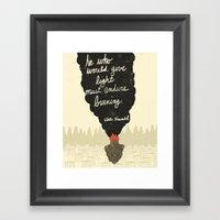 Endure Burning - Viktor … Framed Art Print