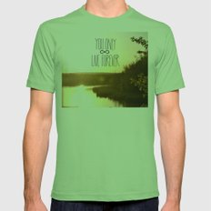 You Only Live Forever Mens Fitted Tee Grass SMALL