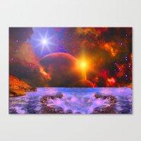 Alien coast Canvas Print