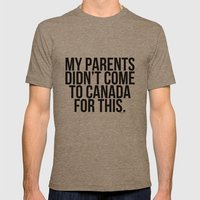 Immigration-  Canada Mens Fitted Tee Tri-Coffee SMALL