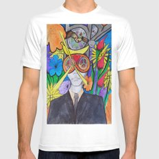 EGO SMALL White Mens Fitted Tee