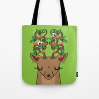 Love with Cherries on Top Tote Bag