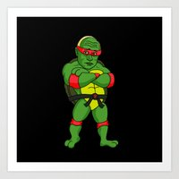 Teenage Putin Ninja Turtle Art Print