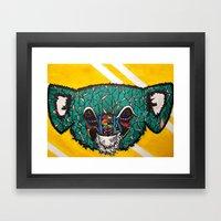 Koala, Whoa Framed Art Print