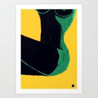 Swimmer #3 Art Print