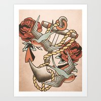 anchor Art Prints featuring Anchor by Chase Kunz