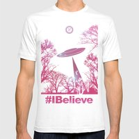 #Ibelieve UFO Mens Fitted Tee White SMALL