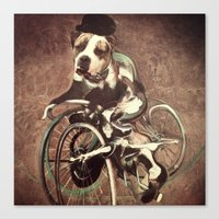 Canvas Print featuring Francis Bacon Bicycle Bully by Jenn Bress