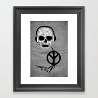 Love' skull -  a collaboration between Sam Guilhen and Gwenola de Muralt - Framed Art Print