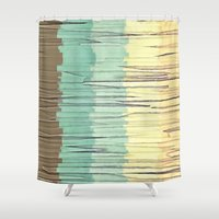 Shreds of Color 2 Shower Curtain