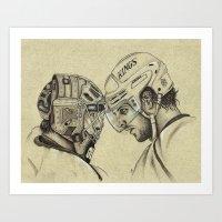 LA KINGS: Quick And Kopi… Art Print