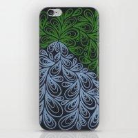 Light Green And Gray Dro… iPhone & iPod Skin