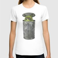Grouchy Cat  Womens Fitted Tee White SMALL