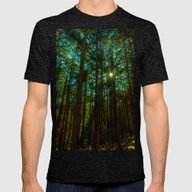 Tall Trees Mens Fitted Tee Tri-Black SMALL
