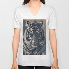 Tiger Eyes - by Julio Lucas  Unisex V-Neck