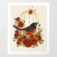 Caged Bird Sings Art Print
