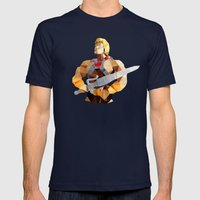 Polygon Heroes - He-Man Mens Fitted Tee Navy SMALL