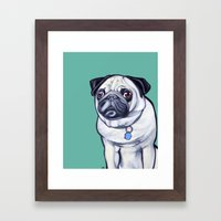 Pancake The Pug Framed Art Print