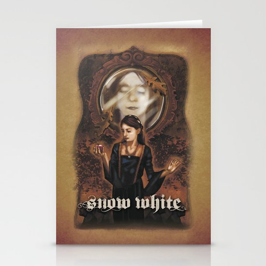 Snow White Stationery Card