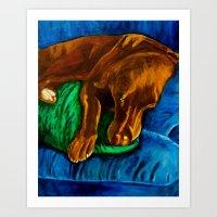 Sleepy Boy Art Print