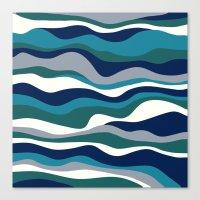 Cordillera Stripe: Teal Navy Combo Canvas Print