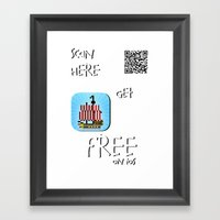 Pixel Pirate Run Ios Framed Art Print