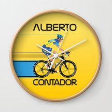 Alberto Contador Wall Clock