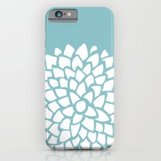 Teal Dahlia iPhone 6 Slim Case