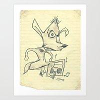 Skanking Wolf Art Print