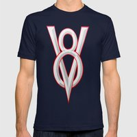 V-8 Symbol Mens Fitted Tee Navy SMALL