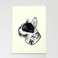 French Bulldog Tattooed Dog Stationery Cards