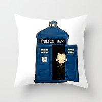 DOCTOR WHO IN TARDIS NIN… Throw Pillow