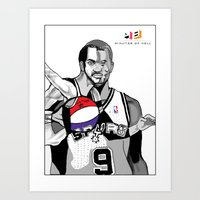 The Cubists Stylings of Tony Parker Art Print