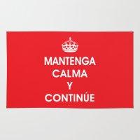 Mantenga Calma Y Continue - Keep Calm and Carry on (SPANISH) Rug