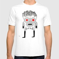 Cardboard Man Mens Fitted Tee White SMALL