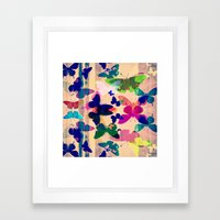 Butterflies on board Framed Art Print