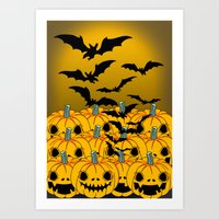 halloween Art Prints featuring halloween by mark ashkenazi