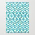 Tulip Knit in blue & cream Canvas Print