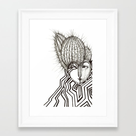 Edgy Framed Art Print