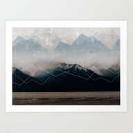 Art Print featuring When Winter Comes by Cafelab