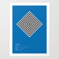 Hambourg Geometric Logo Art Print