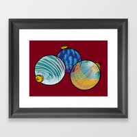 Christmas in July (ornaments) Framed Art Print