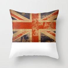 United Kingdom Flag Throw Pillow